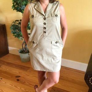 Tibi Khaki Cargo Safari Mini Dress